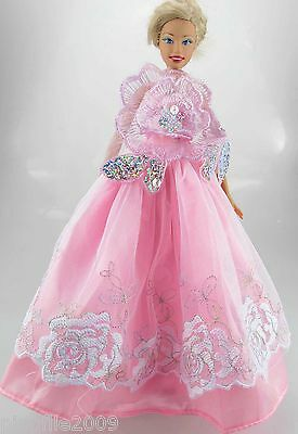 Fashion New Handmade Wedding Dress Clothes Outfits For Barbie Doll #792