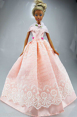 Fashion New Handmade Wedding Dress Clothes Outfits For Barbie Doll #752