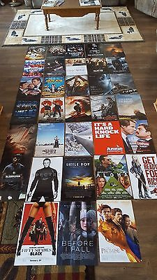 """HUGE LOT of 33 Promo Movie Posters - Aprox 11"""" by 17"""" inches LOOOOOOOK!"""