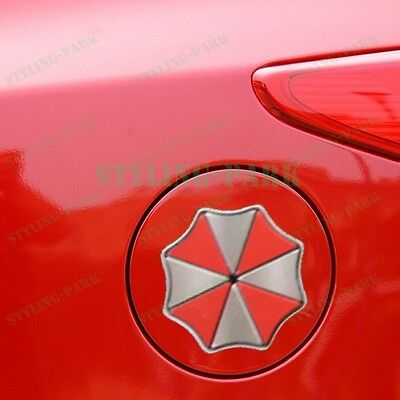 Gray Red Resident Evil Umbrella Door Fuel Tank Mirror Badge Emblem Decal Sticker