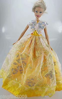 Fashion New Handmade Wedding Dress Clothes Outfits For Barbie Doll #801