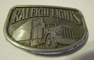 RALEIGH LIGHTS WITH SEMI TRUCK BELT BUCKLE