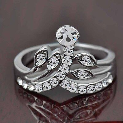 Hot sale new fashion inlaid upscale jewelry S80 Silver CZ rings    **R421-8