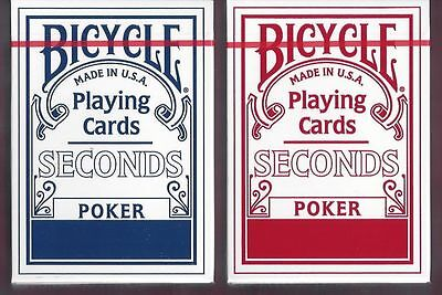 Bicycle Seconds 2 Deck Set – Blue and Red - SEALED