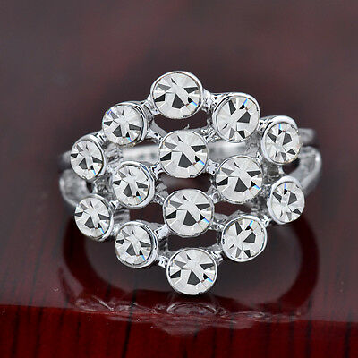 Hot sale new fashion inlaid upscale jewelry S80 Silver CZ rings    **R418-7