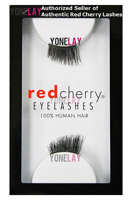 4d7aab95abe Lot 10 Pairs GENUINE RED CHERRY Accent DS01 Human Hair Lashes False  Eyelashes