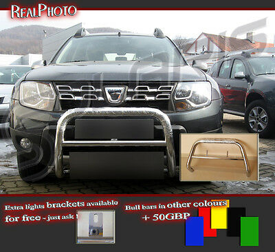 Dacia Duster 2014+ Low Bull Bar Without Axle Bars +Gratis! Stainless Steel!!