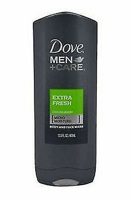 PACK OF 3 Dove Men Care Extra Fresh Cooling Agent Body And Face Wash 13.5 fl oz