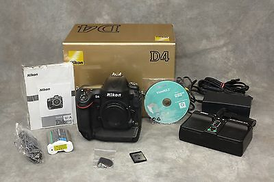 NIKON D4 EXCELLENT + CONDITION IN BOX * LOW SHUTTER COUNT * CHECK IT OUT *  277