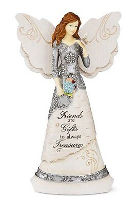 Elements Friend Angel Figurine by Pavilion, 8-Inch, Holding Butterfly, Inscripti