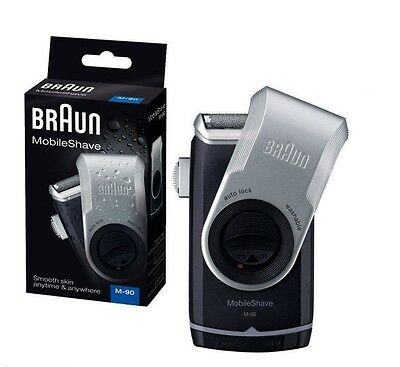 Braun M-90 Men's Mobile Shave Electric Portable Battery Powered Trimmer Shaver