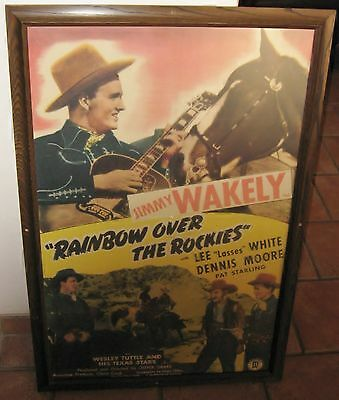 1947 POSTER Cowboy Western Movie VINTAGE Jimmy Wakely Arizona Collector History