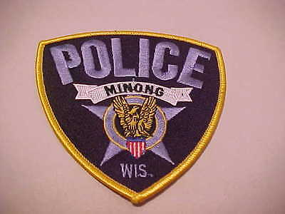 MINONG  WISCONSIN  POLICE PATCH *** FREE SHIP IN USA ***
