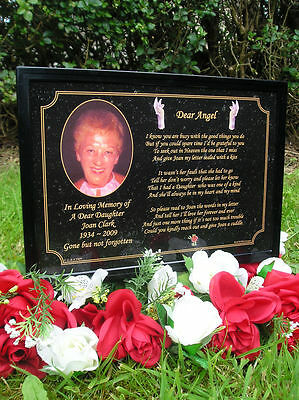 Personalised A5 Size Memorial, Sympathy, Bereavement Grave Plaque - Daughter