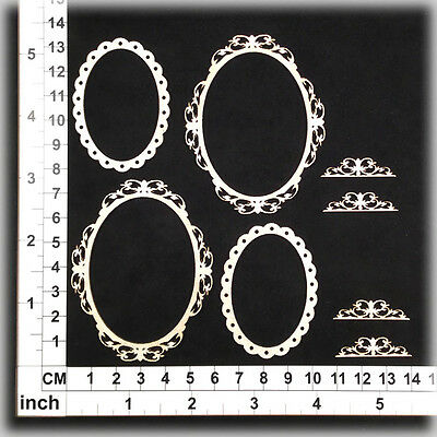 Chipboard Embellishments for Scrapbooking, Cardmaking - Ornate Frames 221220w