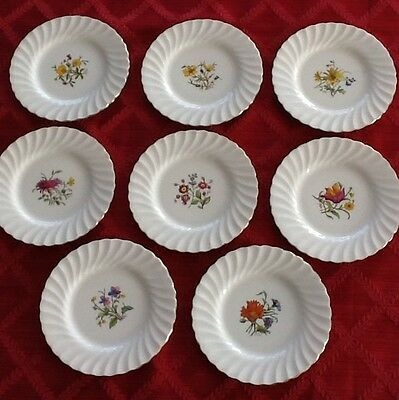53 Pc. Minton Fine China Dishes S500 Floral Center with Swirl Edge Dish Set