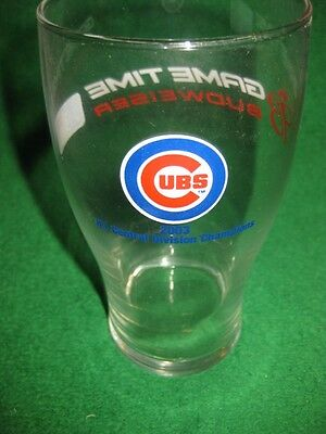 Chicago Cubs - Budweiser  2003 Division Champs Glass