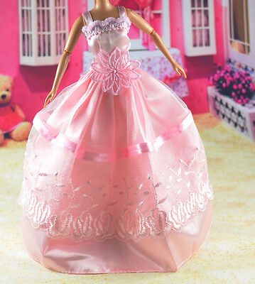 lovely New Handmade Party Clothes Fashion Dress for Noble Barbie Doll   **bab28