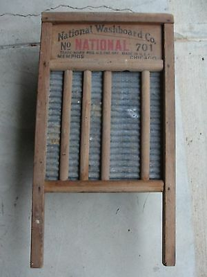 Antique Wood The Zinc King Top Notch National Washboard Co. # 701