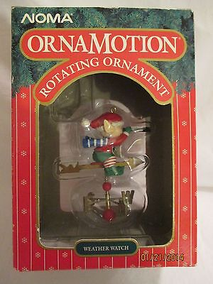 """NOMA OrnaMotion Rotating Ornament """"Weather Watch"""" 1989"""