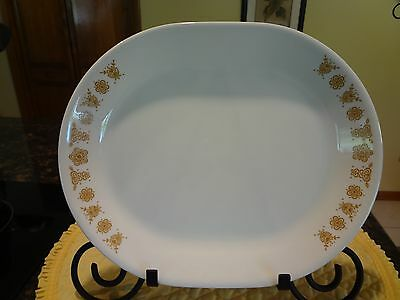 Corelle Oval Platter Butterfly Gold Free Shipping