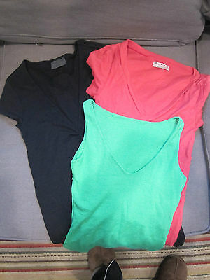 LOT OF 3 MICHAEL STARS BRAND TOPS~1 GREEN, 1 BLACK AND 1 RED~ONE SIZE FITS ALL