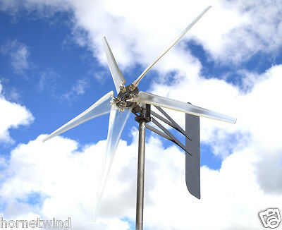 "KT Ghost 74"" ALUMT 5 Blade Wind turbine Low Wind 12 VDC 1-phase 14 mag  6.3 kWh"