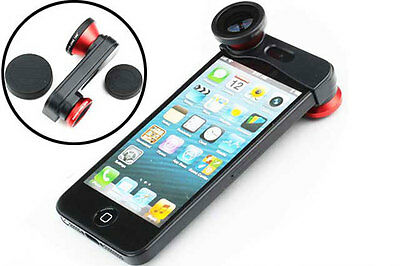 3 IN 1 Phone Lens Kit Fisheye Lens  Macro Lens Wide Angle Lens for iPhone 5