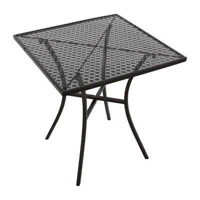 Cafe Table, 700mm Square Black Steel, Outdoor  Restaurant & Cafe Furniture