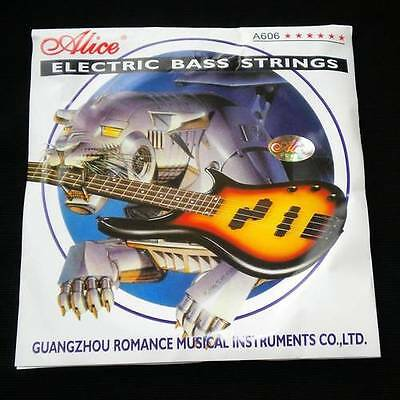 Set of Medium Electric Bass 4 String Nickel Plated Steel Core Alice A606(4)-M