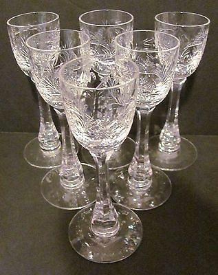 ABP Hawkes Cordial Glass LaSalle Pattern Set of 6 La Salle American Brilliant