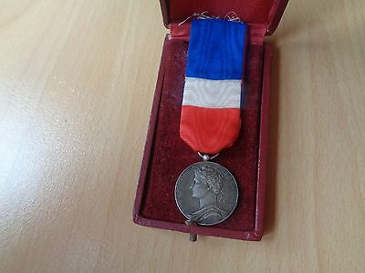 6 'Trade and Industry Medal 1921 silver medal french decoration item