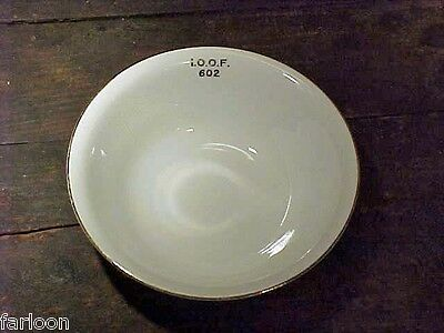 ODD FELLOWS #602 Olympia Lodge Dunkirk SERVING BOWL Knowles Taylor Knowles