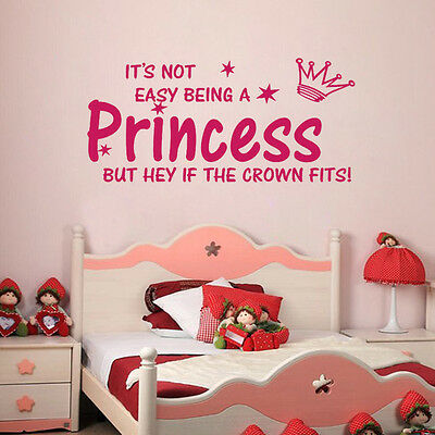 Not Easy being a Princess Decor vinyl wall decal quote sticker removable XD01