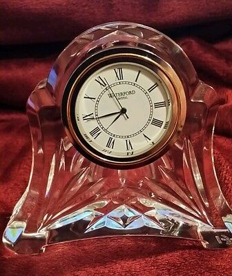 NIB..WATERFORD CRYSTAL ABBY CLOCK. PERFECT CONDITION.