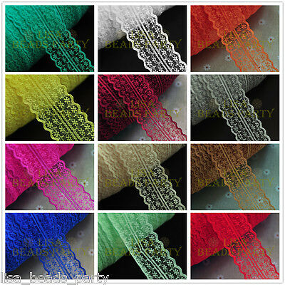2/10yards 45mm Width Fabric Lace Making Fringe Applique Trim Sewing Crafts