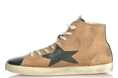 ISHIKAWA New Man Leather HANDMADE ITALY Vintage Ankle Sneakers Shoes Size 45 ita