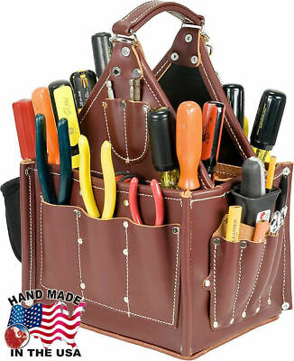 Occidental Leather 5585 Stronghold Journeyman's Tote Bag w/ 2 Oxy Tool Shields