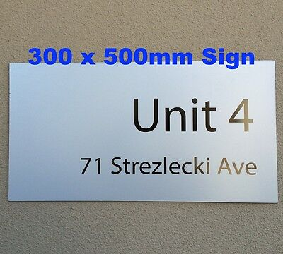 300x500mm Custom Street Number/House Name Sign/ Number Plaque UV Letter Cutting