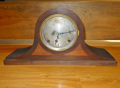 Antique Seth Thomas Mantle Clock Metal Face Key wound 1920's era Victorian USA