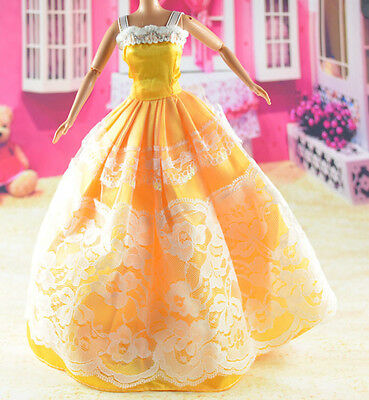 lovely New Handmade Party Clothes Fashion Dress for Noble Barbie Doll   **bab34