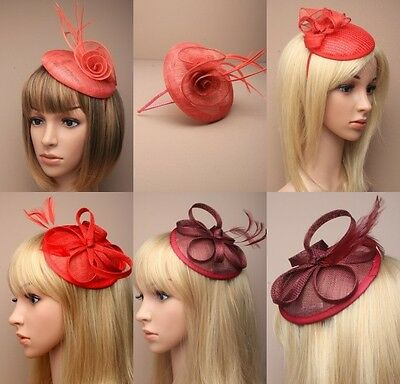 Red Stylish Fascinator, Wedding, Prom, Races, Ascot, Occasion - Lot