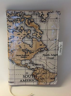 A5 diary Cover,A5 book cover,Journal cover, Planner cover,World Maps Oilcloth