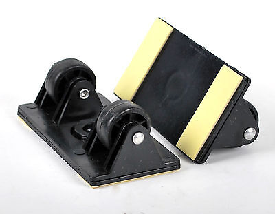 Set of 2 Luggage Rollers Spare Suitcase Wheels Quick Easy to Attach