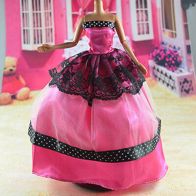lovely New Handmade Party Clothes Fashion Dress for Noble Barbie Doll   **bab68