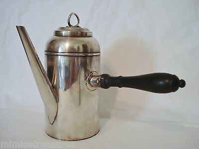 800 Silver Coffee Chocolate Pot Side Handle 1798-1809 Belge Coq Argent massif