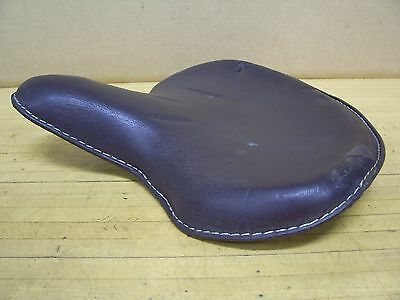 Harley Panhead Knucklehead Flathead Indian Motorcycle Leather Solo Seat Bobber