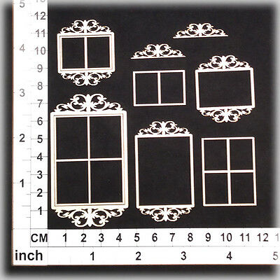 Chipboard Embellishments for Scrapbooking, Cardmaking - Ornate Frames 141163w