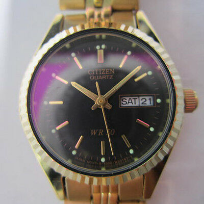CITIZEN LADY'S WATCH QUARTZ ALL STAINLESS S.GOLD ORIGINAL EDITION JAPAN NEW
