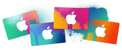 $100 APPLE iTunes gift card for USA iTunes, AppStore & Mac App Store.
